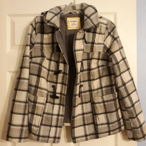 Old Navy Plaid Wool Coat